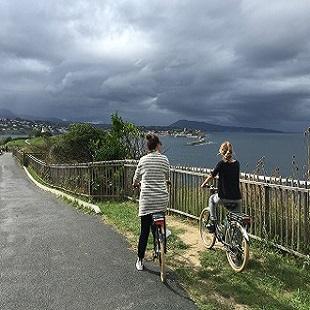 Rallye vélo sur la côte